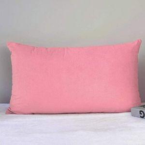 2 for $35 - Rose Pink Velvet Lumbar Pillow